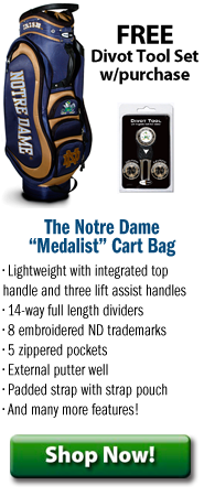 Notre Dame Medalist Golf Cart Bag